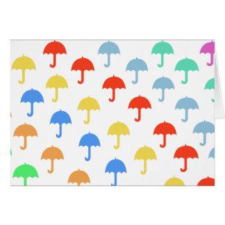 Abstract Colourful Umbrellas Card
