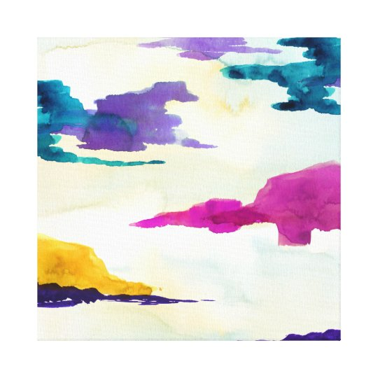 Abstract Colourful Watercolour Scottish Canvas