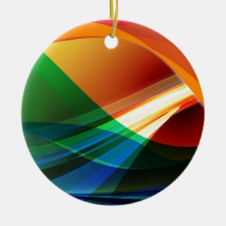 Abstract Colourful Waves Ornaments