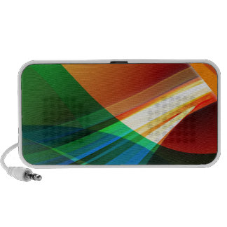 Abstract Colourful Waves Travelling Speaker
