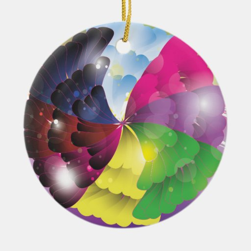 Abstract Colours Christmas Ornament