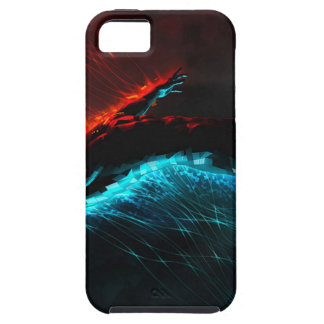 Abstract Colours Red Blue Visions iPhone 5/5S Cover