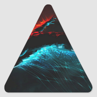 Abstract Colours Red Blue Visions Triangle Stickers