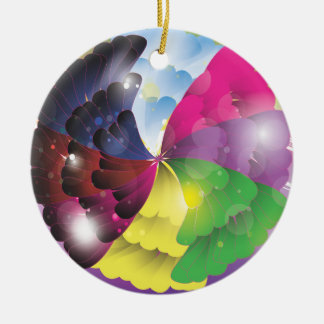 Abstract Colours Round Ceramic Decoration