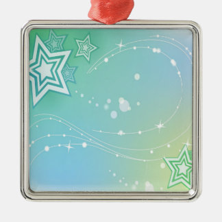 Abstract Colours Stars Christmas Ornaments