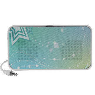 Abstract Colours Stars Travelling Speaker