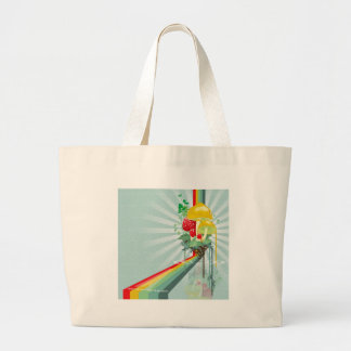 Abstract Colours The Growing Rainbow Canvas Bag