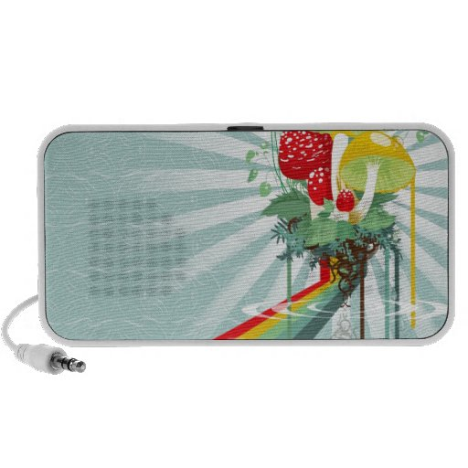 Abstract Colours The Growing Rainbow Travelling Speaker