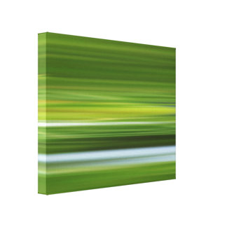 abstract composition in green canvas print