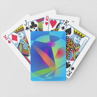 Abstract Composition Light Blue Card Deck