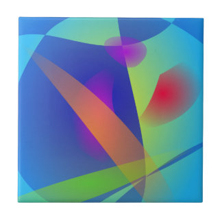 Abstract Composition Light Blue Ceramic Tiles
