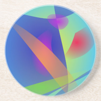Abstract Composition Light Blue Coasters