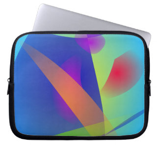 Abstract Composition Light Blue Computer Sleeve
