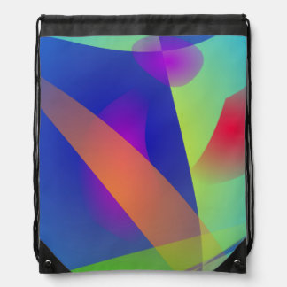 Abstract Composition Light Blue Drawstring Bag
