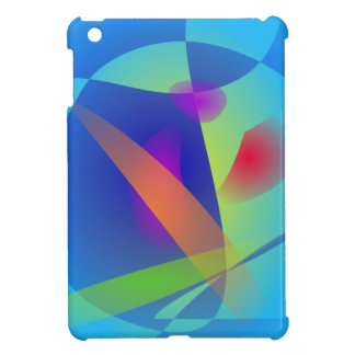 Abstract Composition Light Blue iPad Mini Covers