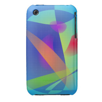 Abstract Composition Light Blue iPhone 3 Covers