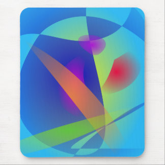 Abstract Composition Light Blue Mousepad
