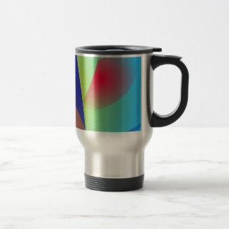 Abstract Composition Light Blue Mugs