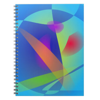 Abstract Composition Light Blue Note Books