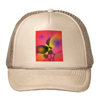 Abstract Composition Red Wind Trucker Hat