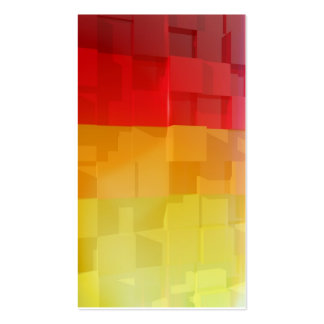 Abstract composition with colorful cubes pack of standard business cards
