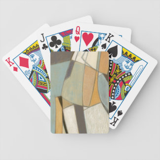 Abstract Composition with Muted Colors Bicycle Playing Cards
