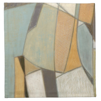 Abstract Composition with Muted Colors Napkin