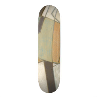 Abstract Composition with Muted Colors Skateboard