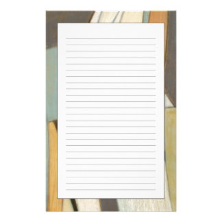 Abstract Composition with Muted Colors Stationery Design