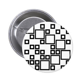 Abstract composition with squares pinback buttons