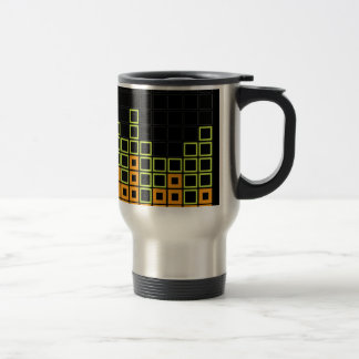 Abstract composition with squares mugs