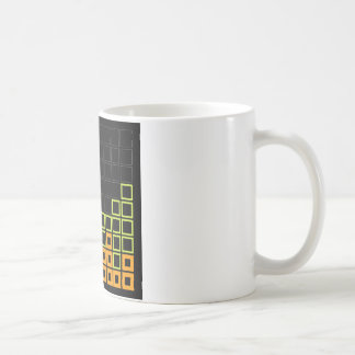 Abstract composition with squares mug