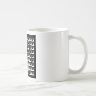 Abstract composition with squares coffee mugs