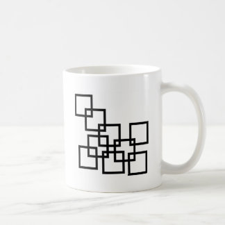 Abstract composition with squares coffee mug