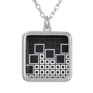 Abstract composition with squares necklace
