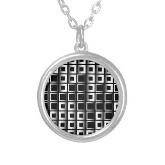 Abstract composition with squares personalized necklace