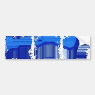 Abstract Computer Blue Stripes Bumper Sticker