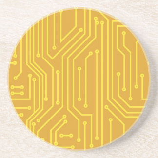 Abstract computer equipment coaster