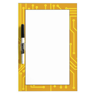 Abstract computer equipment dry erase board