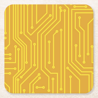 Abstract computer equipment square paper coaster