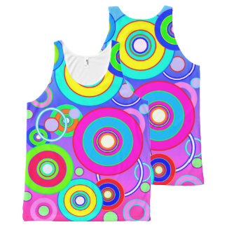 Abstract computer  generated background All-Over print tank top