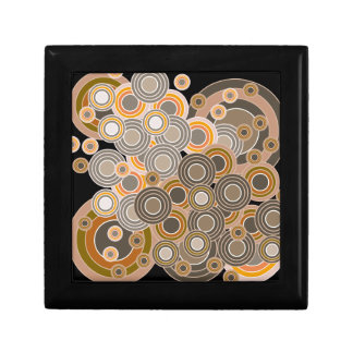 Abstract Concentric Circles Pattern Gift Box