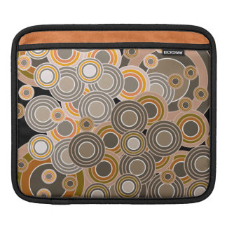 Abstract Concentric Circles Pattern iPad Sleeve