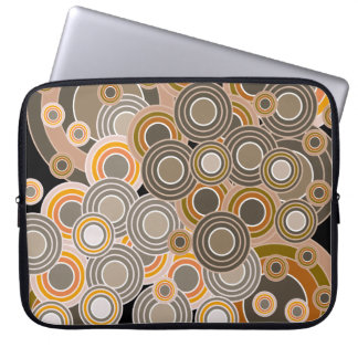 Abstract Concentric Circles Pattern Laptop Sleeve