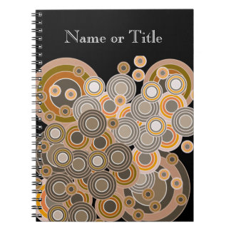 Abstract Concentric Circles Pattern Notebooks