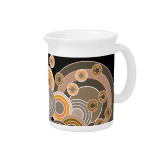 Abstract Concentric Circles Pattern Pitcher