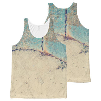 Abstract concrete wall All-Over print tank top
