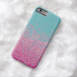 Abstract Confetti Girly Pink and Blue Barely There iPhone 6 Case