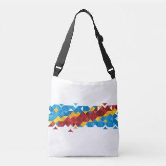 Abstract Congo Flag, Democratic Republic of Congo Crossbody Bag