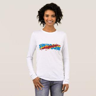 Abstract Congo Flag, Democratic Republic of Congo Long Sleeve T-Shirt